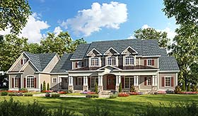 Traditional , Southern , Craftsman , Country House Plan 60042 with 4 Beds, 5 Baths, 3 Car Garage Elevation