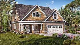 Cottage , Craftsman , Traditional House Plan 60045 with 3 Beds, 3 Baths, 2 Car Garage Elevation