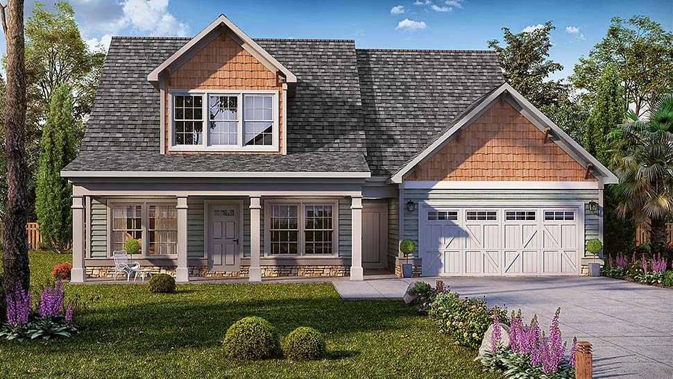 Country Craftsman Traditional House Plan 60053 Elevation