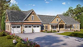 Country Craftsman Traditional House Plan 60054 Elevation