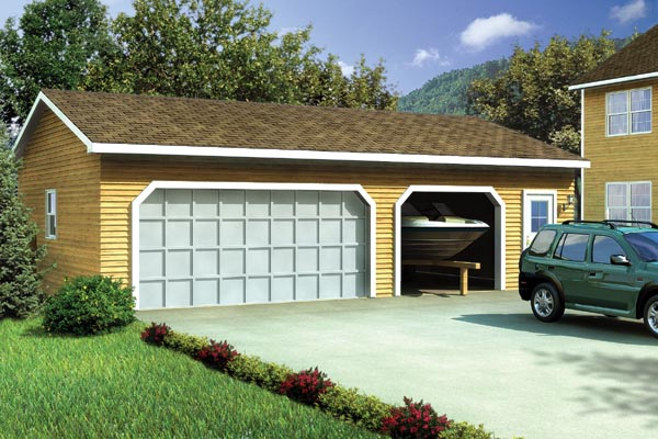 Country Ranch Traditional Garage Plan 6006 Elevation