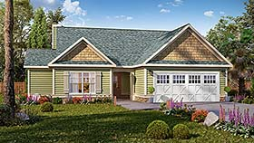 Traditional , Ranch , Craftsman House Plan 60060 with 3 Beds, 3 Baths, 2 Car Garage Elevation