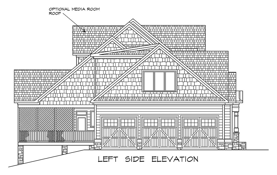 Craftsman, Traditional House Plan 60065 with 4 Beds, 5 Baths, 3 Car Garage Picture 2