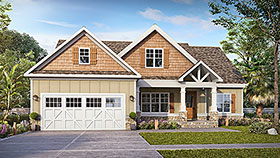 Craftsman , Traditional House Plan 60068 with 3 Beds, 3 Baths, 2 Car Garage Elevation