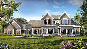 Craftsman , Traditional House Plan 60069 with 5 Beds, 5 Baths, 3 Car Garage Elevation