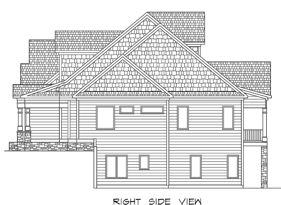 Craftsman, Traditional House Plan 60070 with 5 Beds, 5 Baths, 3 Car Garage Picture 1