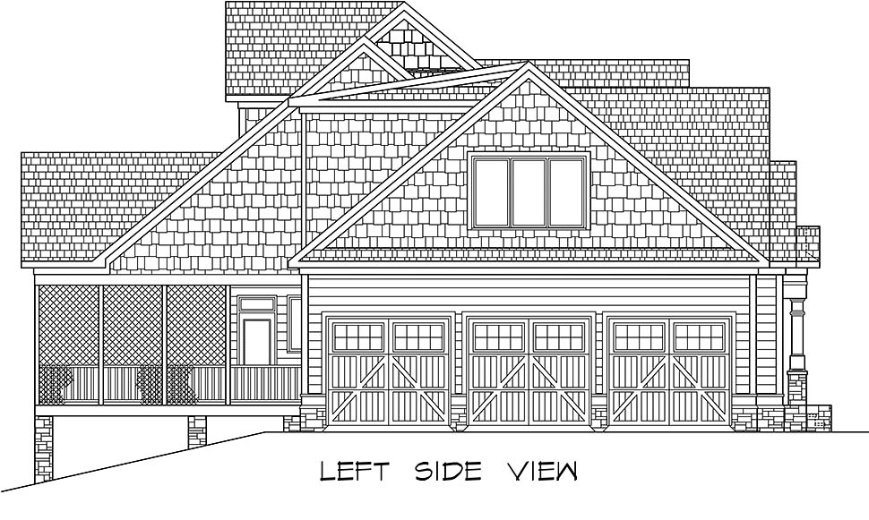 Craftsman, Traditional House Plan 60070 with 5 Beds, 5 Baths, 3 Car Garage Picture 2