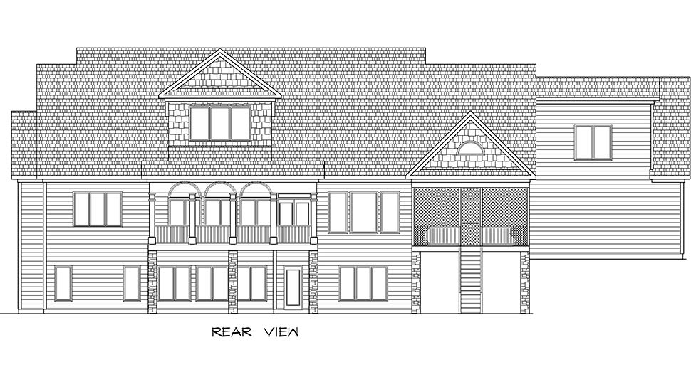 Craftsman Traditional House Plan 60070 Rear Elevation