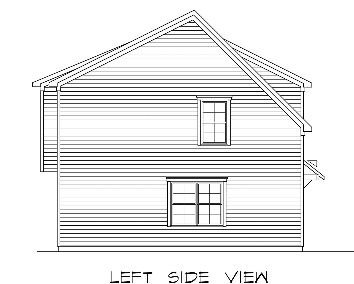 Country, Craftsman, Traditional 3 Car Garage Apartment Plan 60079 with 2 Beds, 3 Baths Picture 2