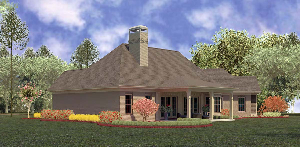 Craftsman, Ranch House Plan 60084 with 4 Beds, 4 Baths, 3 Car Garage Picture 1