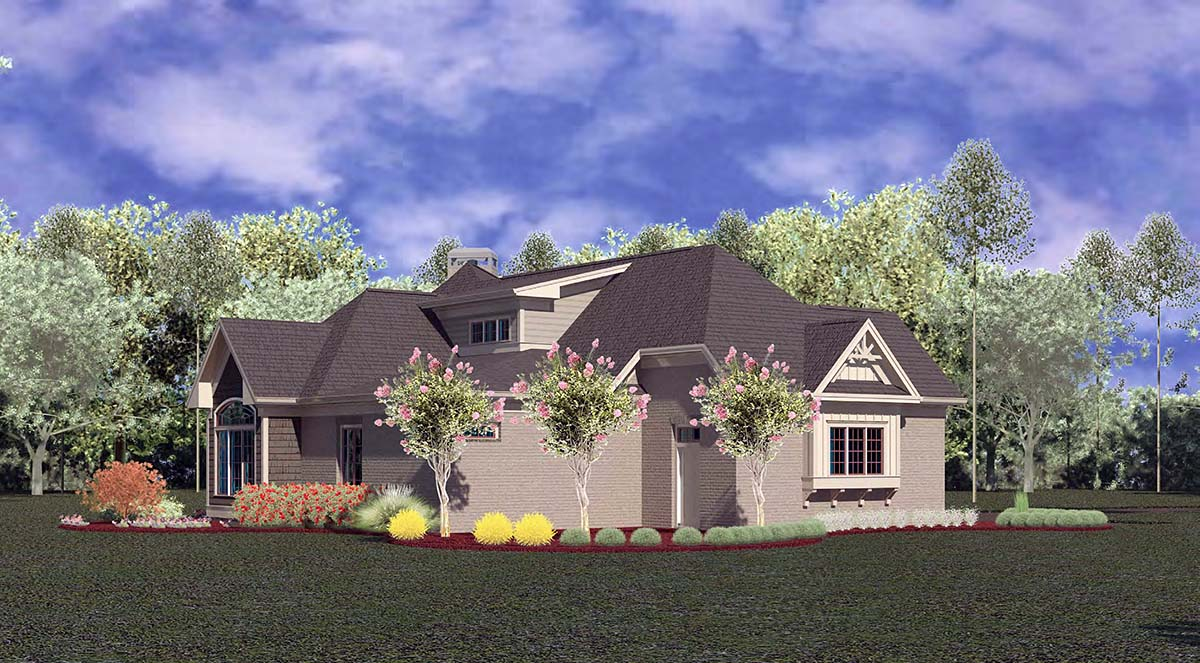 Craftsman, Ranch House Plan 60084 with 4 Beds, 4 Baths, 3 Car Garage Picture 2
