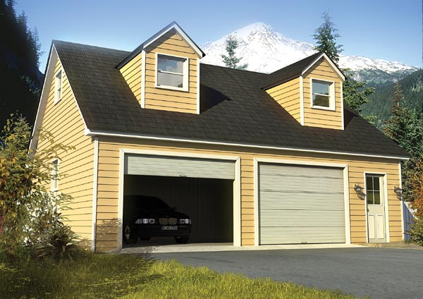 Cape Cod Country Traditional Garage Plan 6010 Elevation