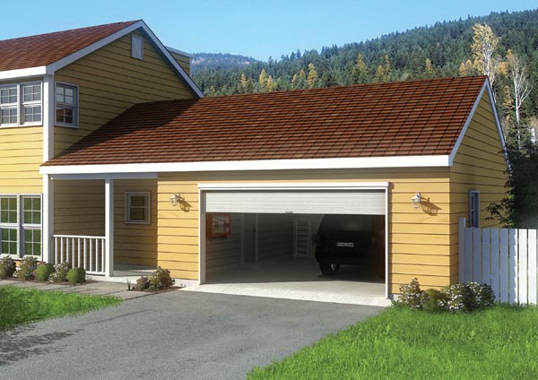 Ranch Traditional Garage Plan 6013 Elevation