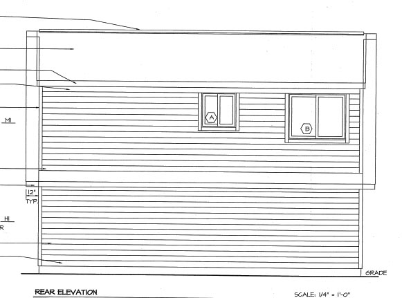 Cape Cod Traditional Rear Elevation of Plan 6016