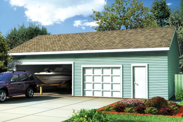 Ranch, Traditional 2 Car Garage Plan 6017 Elevation