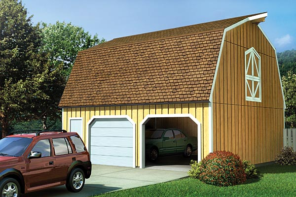 Country, Farmhouse 2 Car Garage Plan 6018 Elevation