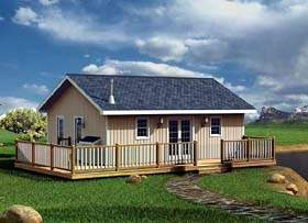 Cabin Traditional House Plan 6020 Elevation