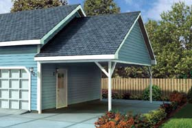 Ranch , Traditional 1 Car Garage Plan 6023 Elevation