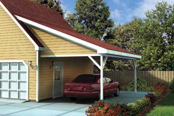 Garage Plan 6023 at FamilyHomePlans – Add On Garage Plans