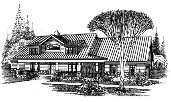 Ranch House Plan 60287 Elevation