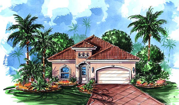 Florida Mediterranean House Plan 60401 Elevation