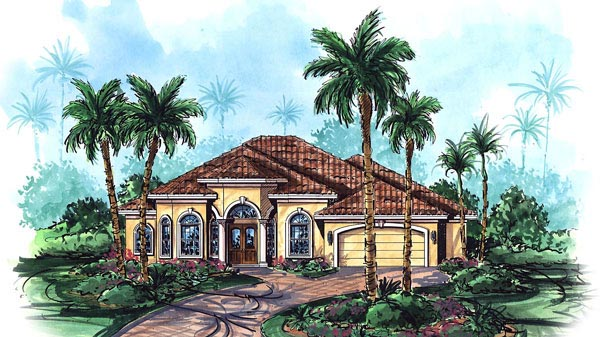 Florida Mediterranean House Plan 60404 Elevation