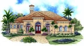 Florida Mediterranean House Plan 60406 Elevation