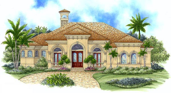 Florida Mediterranean House Plan 60406 Elevation