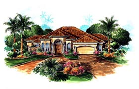 Florida Mediterranean House Plan 60407 Elevation