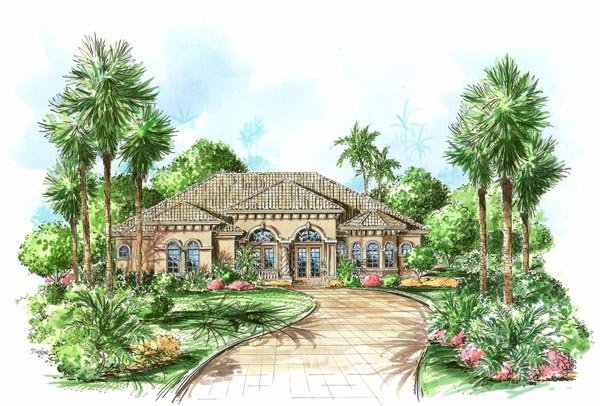 Florida Mediterranean House Plan 60408 Elevation