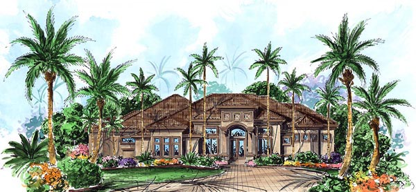 Florida Mediterranean House Plan 60410 Elevation
