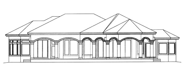 Florida Mediterranean House Plan 60410 Rear Elevation