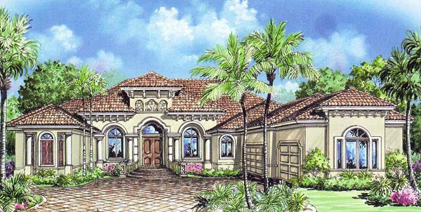 Florida Mediterranean House Plan 60412 Elevation