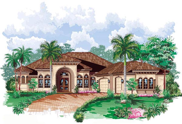 Florida Mediterranean House Plan 60413 Elevation