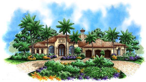 Florida , Mediterranean , Elevation of Plan 60415