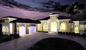 Mediterranean , Florida House Plan 60418 with 4 Beds, 5 Baths, 2 Car Garage Elevation