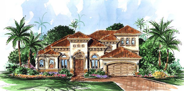 Florida Mediterranean House Plan 60420 Elevation