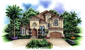 Florida Mediterranean House Plan 60421 Elevation