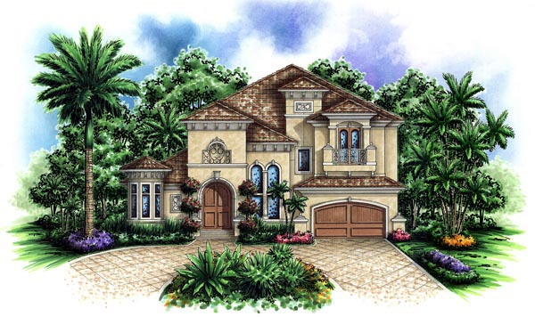 Florida Mediterranean House Plan 60421 Elevation