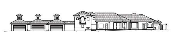 Florida Mediterranean House Plan 60424 Rear Elevation