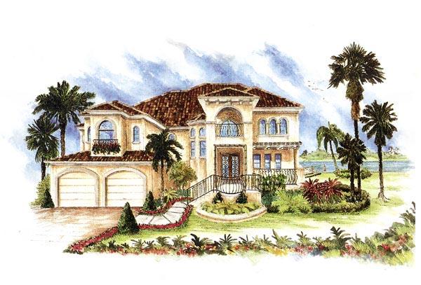 Florida Italian Mediterranean House Plan 60426 Elevation
