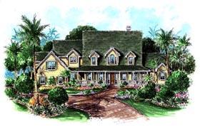 Florida , Mediterranean House Plan 60427 with 4 Beds, 5 Baths, 4 Car Garage Elevation