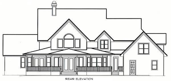 Florida Mediterranean House Plan 60427 Rear Elevation