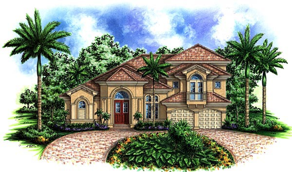 Florida Mediterranean House Plan 60428 Elevation