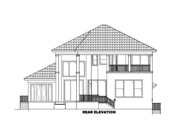 Florida Mediterranean House Plan 60428 Rear Elevation