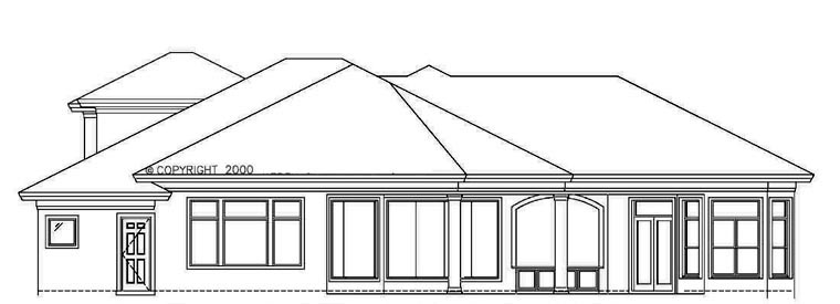 Florida Mediterranean House Plan 60433 Rear Elevation