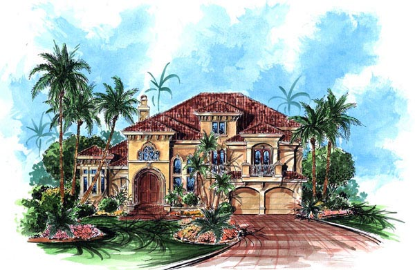 Florida Mediterranean House Plan 60434 Elevation