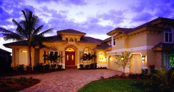 Florida mediterranean house plan 60435 for Florida mediterranean house plans