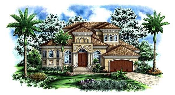 Florida Mediterranean House Plan 60437 Elevation