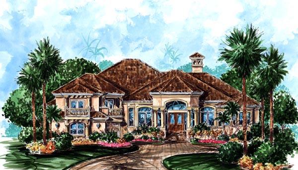Florida Mediterranean House Plan 60439 Elevation